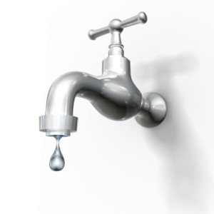 Leaking taps and toilets waste a lot of water and money!